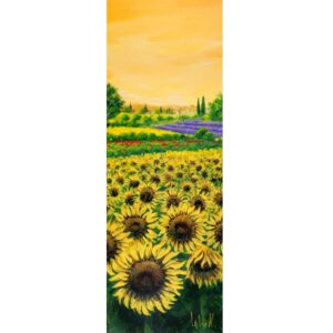 TEBO MARZARI Sunflowers and lavender