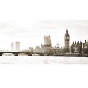 ANONYMOUS View of the Houses of Parliament and Westminster Bridge, London (detail)