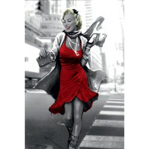 Red Dress in the City
