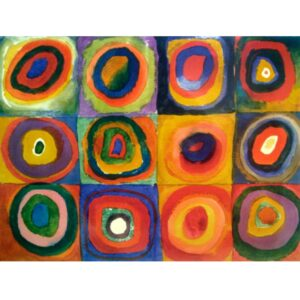 WASSILY KANDINSKY Squares with Concentric Circles