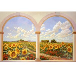 ANDREA DEL MISSIER Road of sunflowers